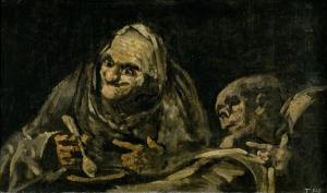 0 Brassai, full 3 1821-23, Goya, pinturas negras, Dos viejos comiendo, Museo del Prado, Madrid